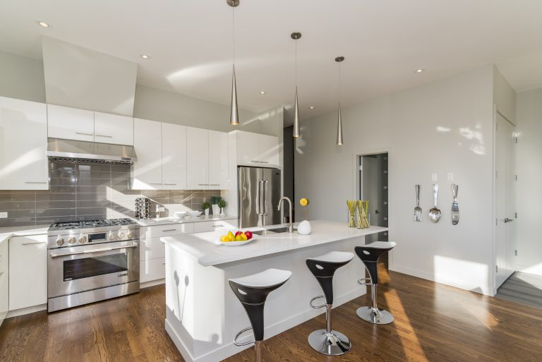 Various ideas for interior design of the kitchen.