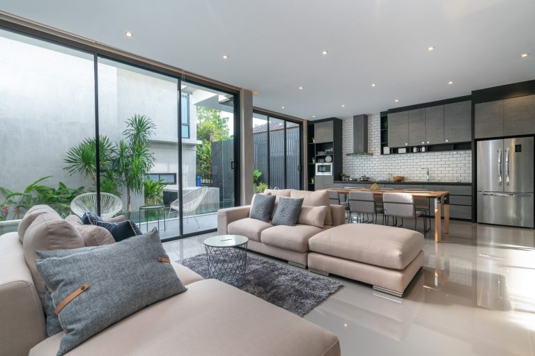 Various ideas for interior design of the living room.