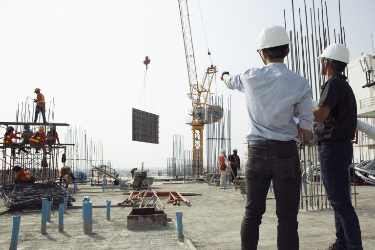 What are the steps in the construction process?